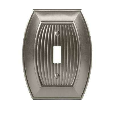 Sea Grass 1-Toggle Wall Plate, Satin Nickel