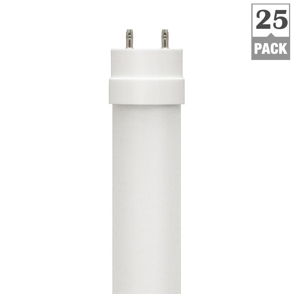 Euri Lighting 17-Watt 4 ft. Linear T8 Bypass Ballast LED Tube Light Bulb (25-Pack)