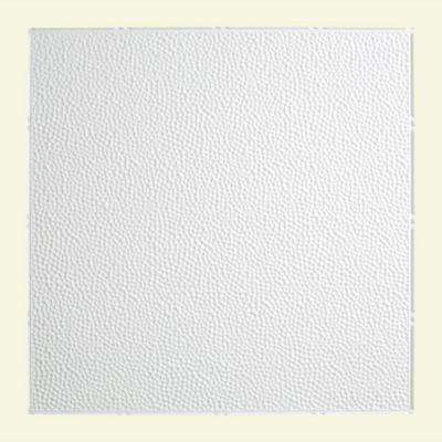 Hammered - 2 ft. x 2 ft. Lay-in Ceiling Tile in Gloss White
