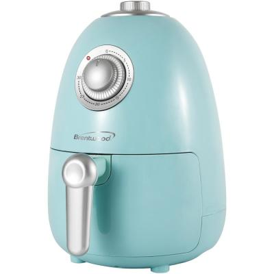 2 Qt. Blue Small Electric Air Fryer with Timer and Temperature Control