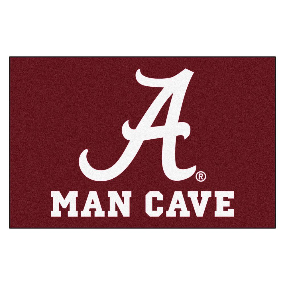 Fanmats University Of Alabama Red Man Cave 2 Ft X 3 Ft Area Rug