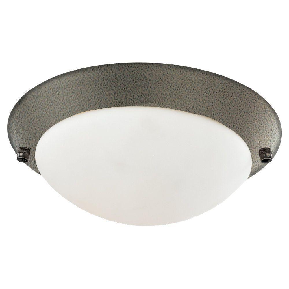 1-Light Heirloom Bronze Fluorescent Ceiling Fan Light Kit
