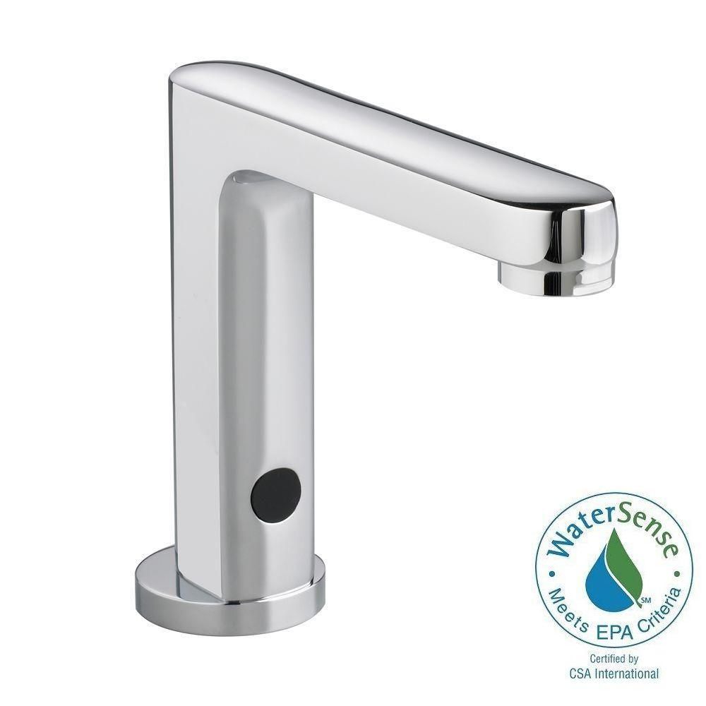 Touchless faucets bathroom - American Standard Moments Selectronic Dc Powered Single Hole Touchless Bathroom Faucet In Polished Chrome