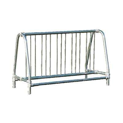 5 ft. Galvanized Commercial Park Traditional Double Sided Portable Bike Rack