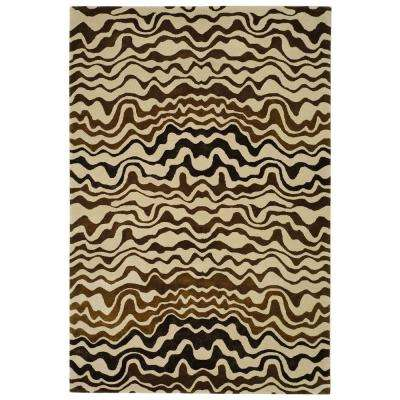 Soho Beige/Brown 5 ft. x 8 ft. Area Rug