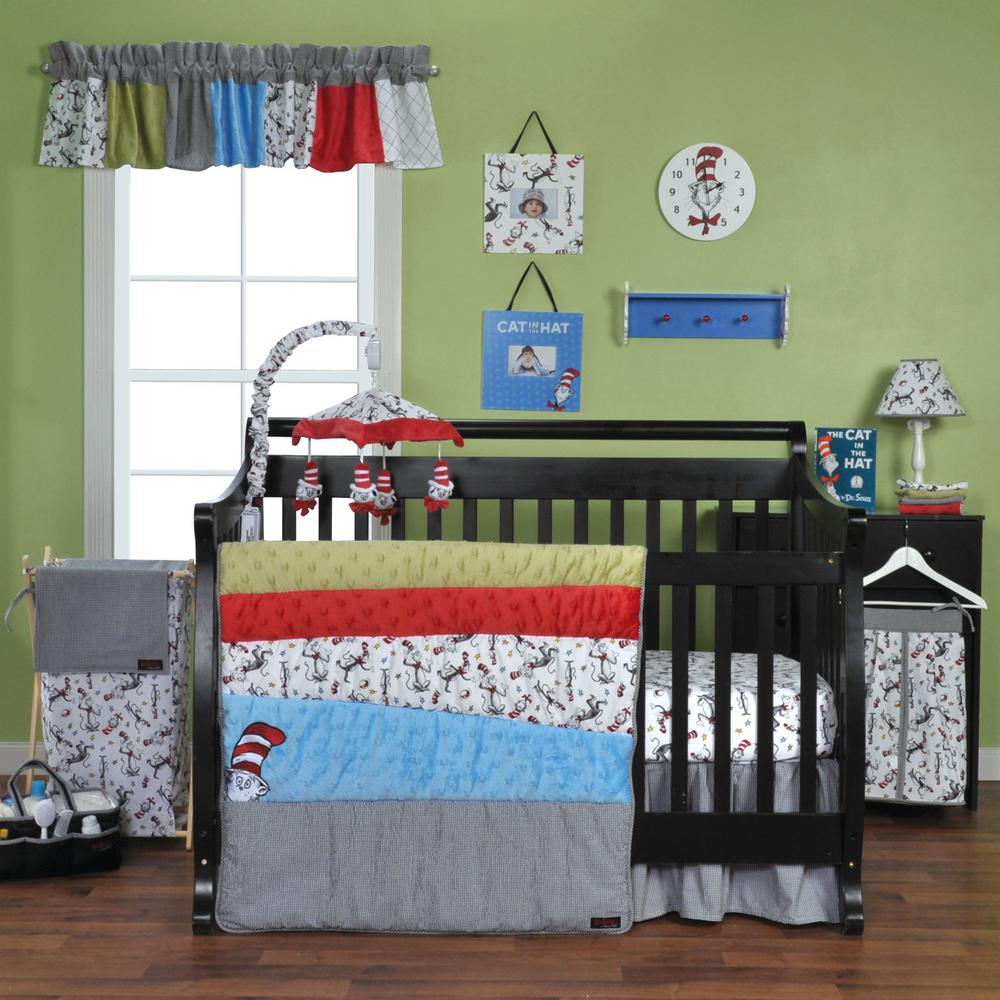 Trend Lab Dr. Seuss Cat In The Hat 3 Piece Crib Bedding Set