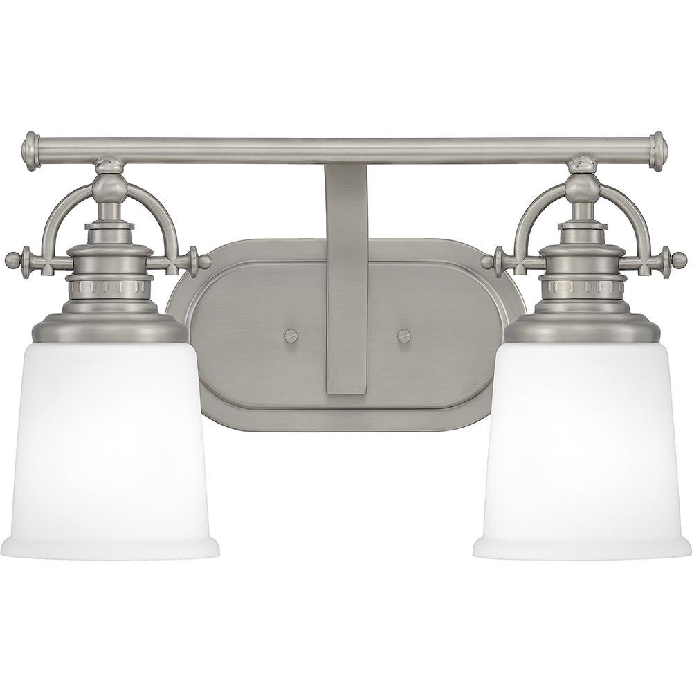 Grant 2-Light Antique Nickel Vanity Light