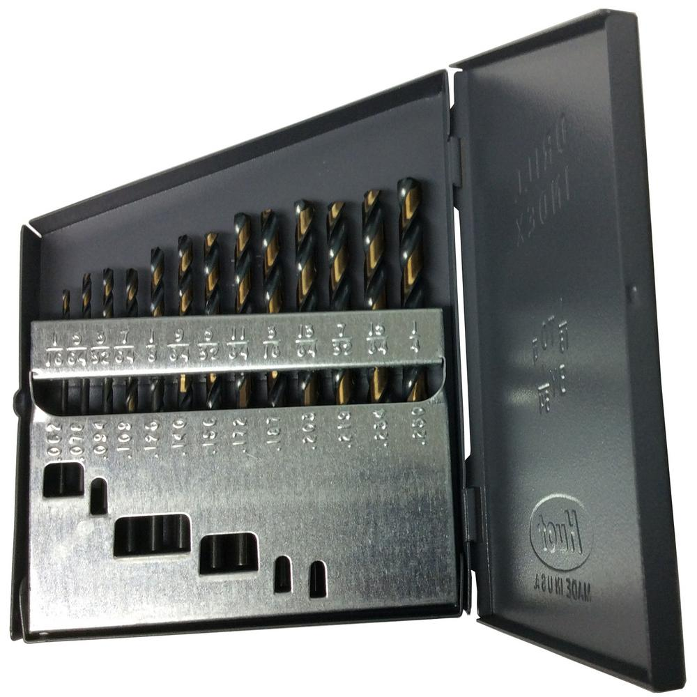 Heavy-Duty High Speed Steel Jobber Drill Bit Set (13-Pieces)