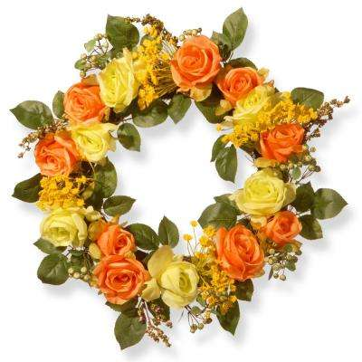 20 in. Mixed Rose Wreath