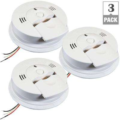 120-Volt Hardwired Ionization Smoke and Carbon Monoxide Combination Alarm with Voice (3-Pack)