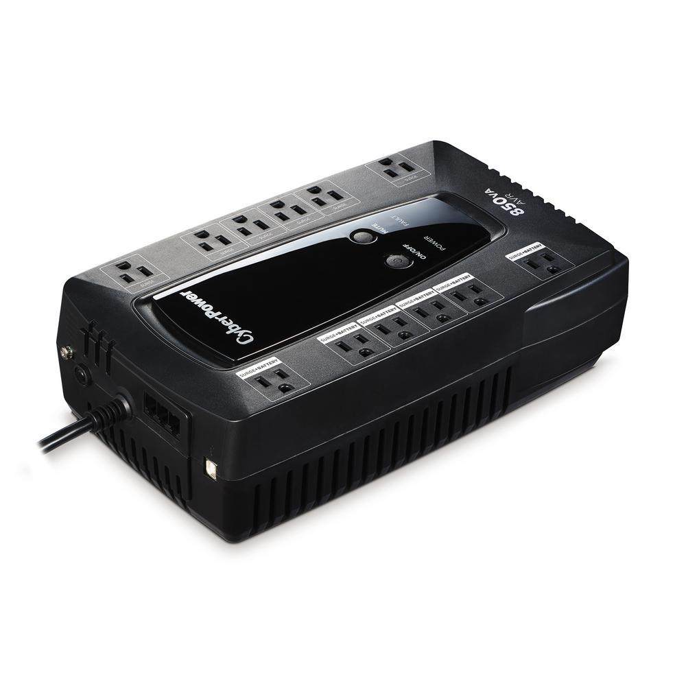 850 VA 12-Outlet UPS Battery Backup