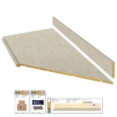 8 ft. Laminate Countertop Kit with Right Miter in Sierra Cascade with Standard Fine Velvet Finish and Valencia Edge