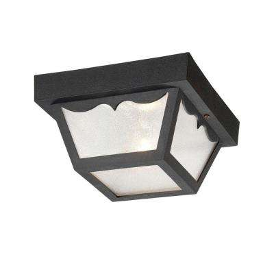 Builder's Choice 1-Light Matte Black Flushmount Ceiling Light