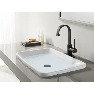 New York Single Hole Single-Handle Bathroom Faucet in Matte Black