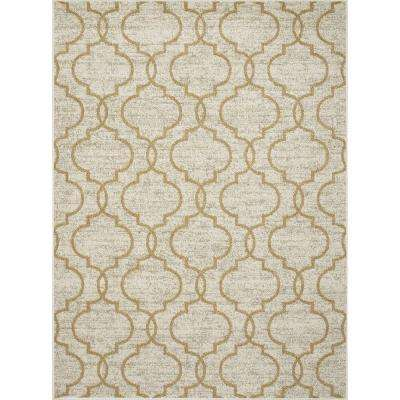 New Casa Quatrefoil Yellow 5 Ft X 7 Area Rug
