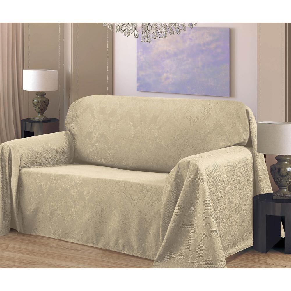 Creative Home Ideas Medallion Jacquard 70 x 90 in. Arm Chair Slip ...
