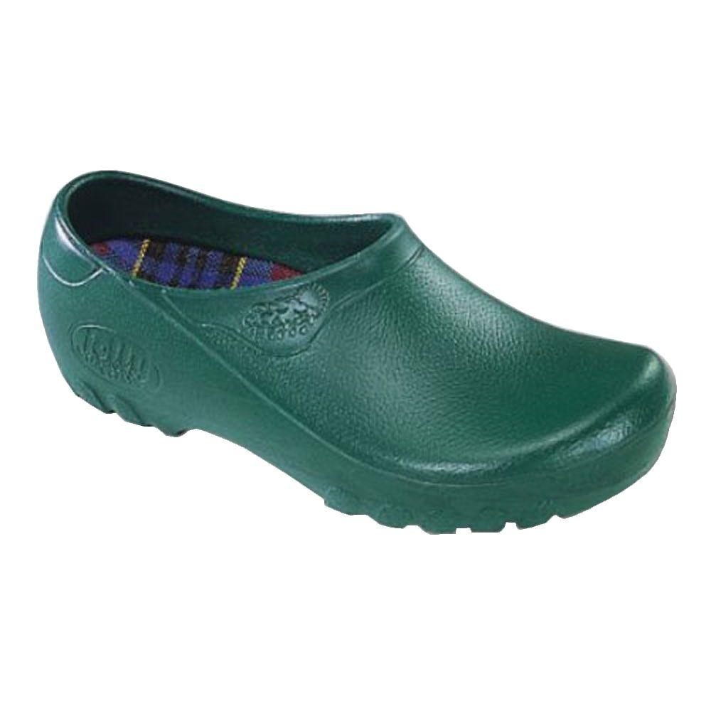 Jollys Men's Hunter Green Garden Shoes - Size 8