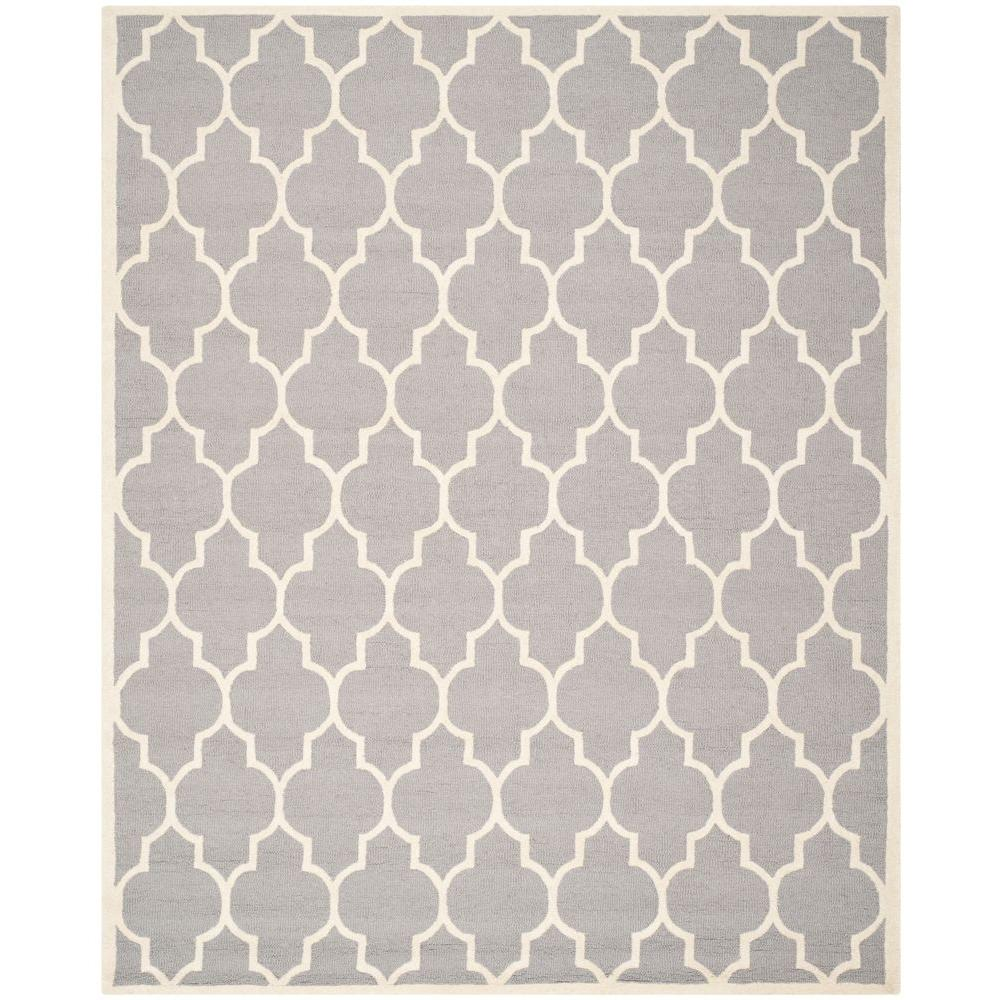 Safavieh Cambridge Silver/Ivory 9 ft. x 12 ft. Area Rug