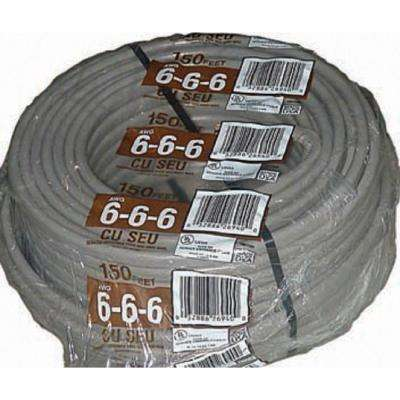 150 ft. 6-6-6 Gray Stranded CU SEU Cable
