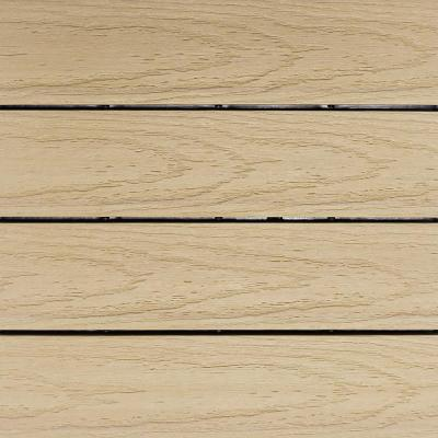 UltraShield Naturale 1 ft. x 1 ft. Quick Deck Outdoor Composite Deck Tile Sample in Japanese Cedar