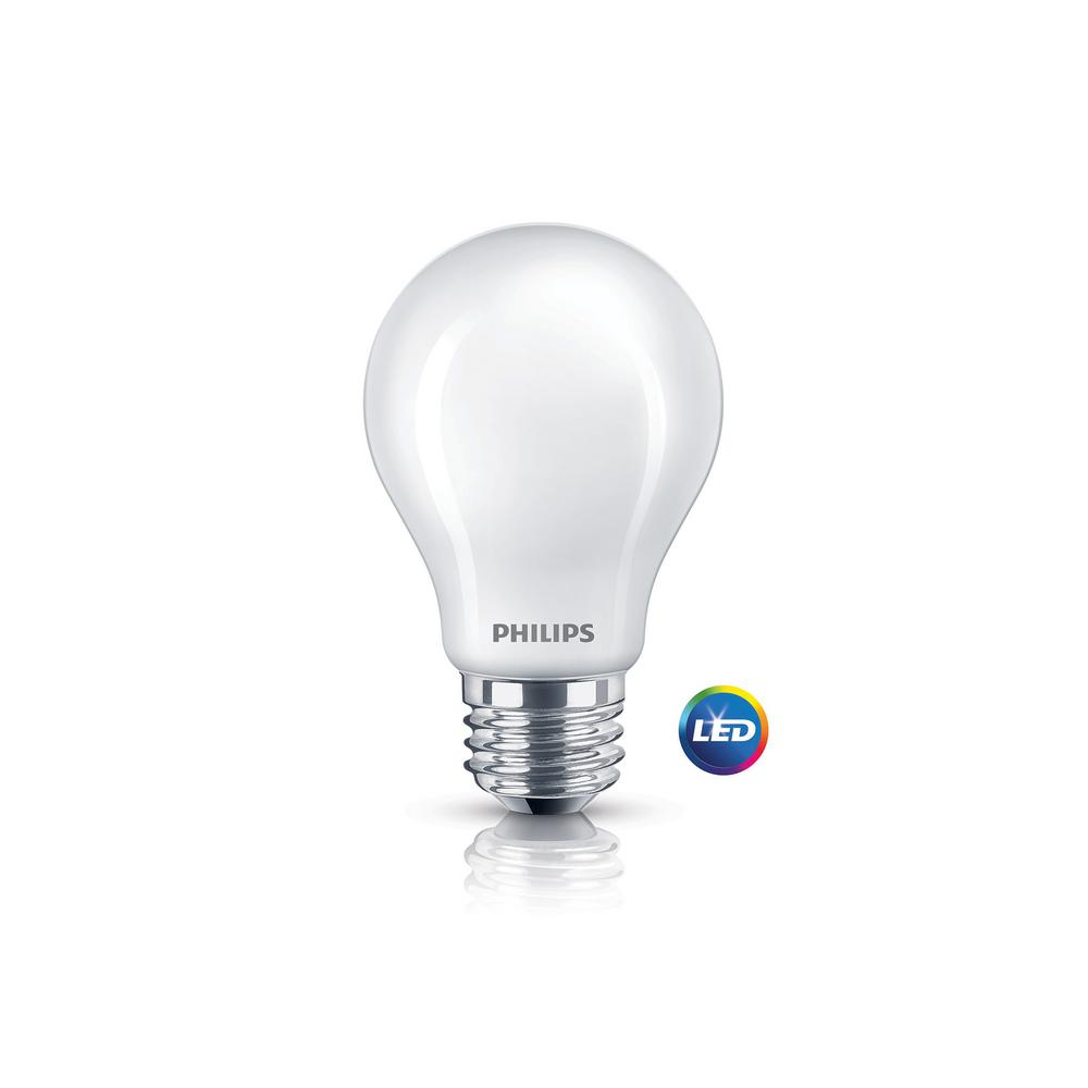 60W Equivalent Soft White Frosted Classic Glass A19 LED Energy Star