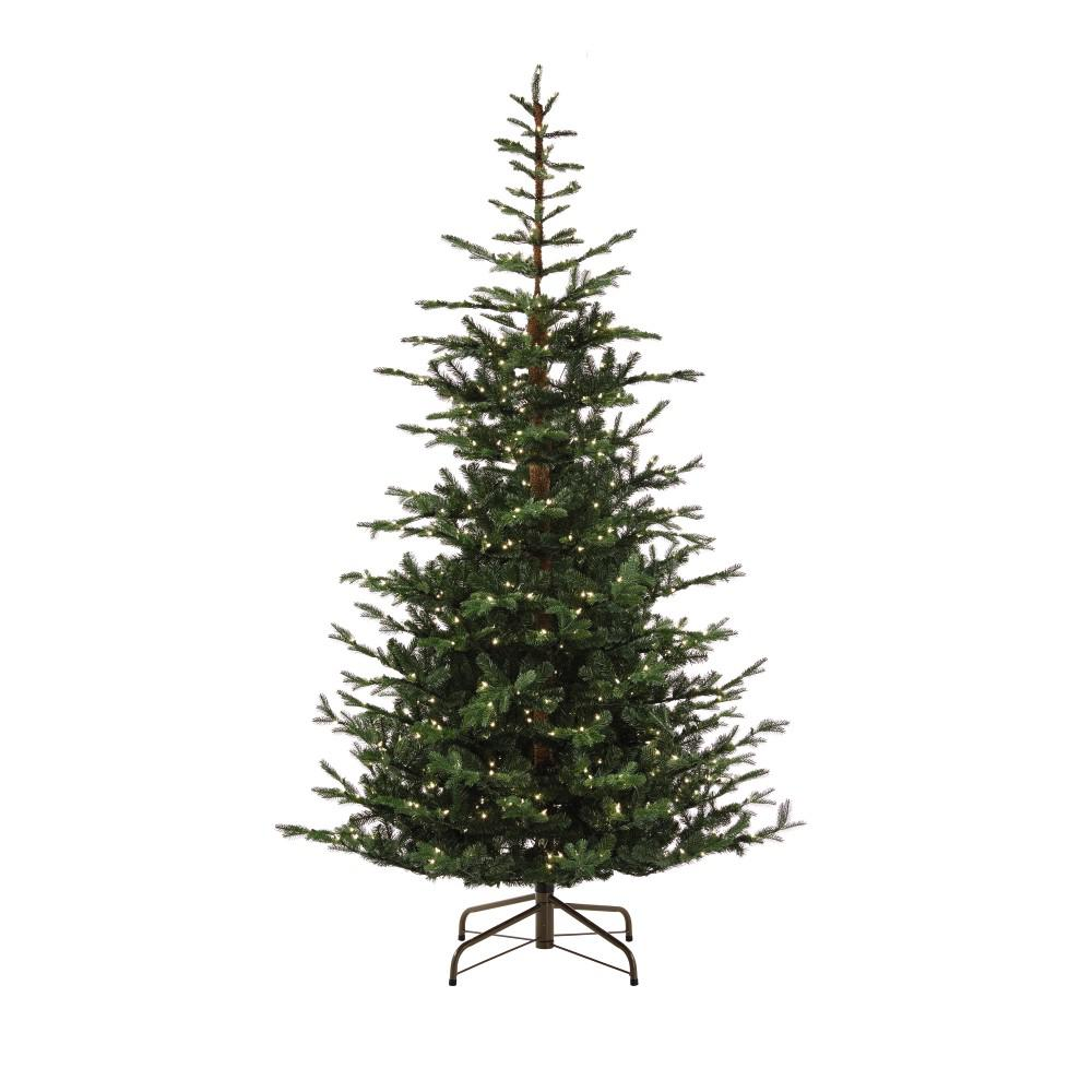 martha stewart living 9 ft pre lit feel real norwegian spruce artificial christmas tree