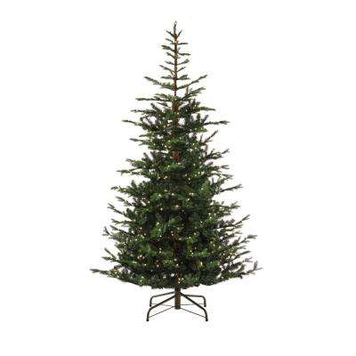 9 ft. Pre-Lit Feel Real Norwegian Spruce Artificial Christmas Tree with 700 Clear Lights