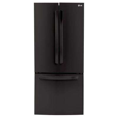30 in. W 22 cu. ft. French Door Refrigerator in Smooth Black