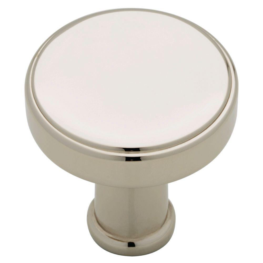 Medallion 1 in. (26mm) Polished Nickel Round Cabinet Knob