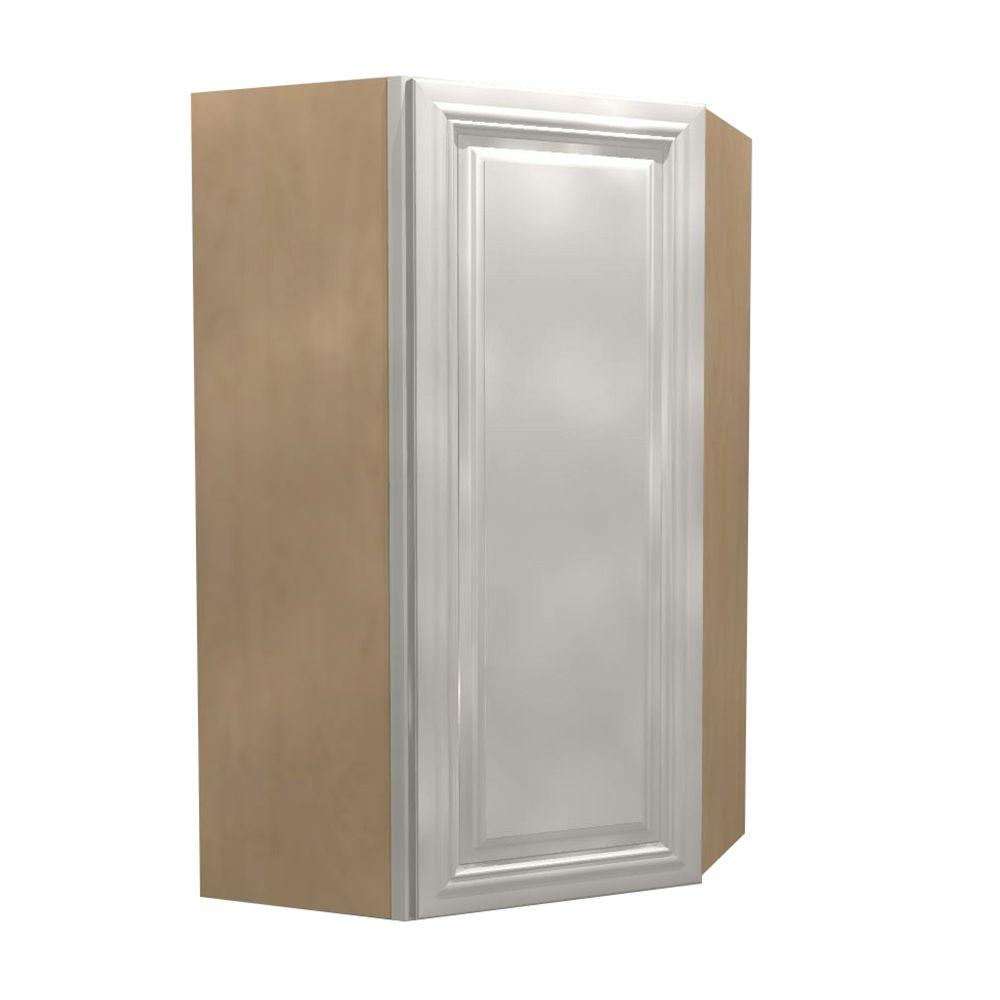 Coventry Assembled 27x36x15 in. Single Door Hinge Left Wall Kitchen Angle