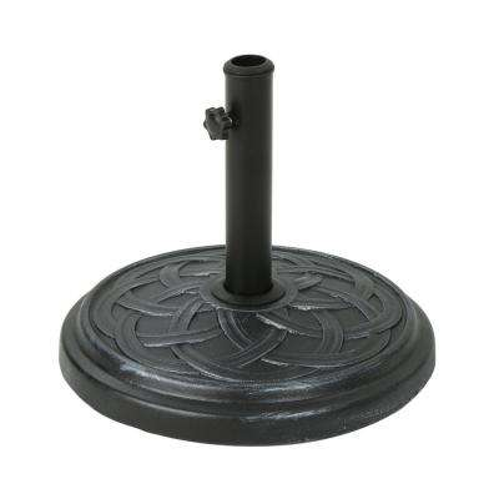 Kian 32.76 lbs. Concrete Patio Umbrella Base in Hammered Iron
