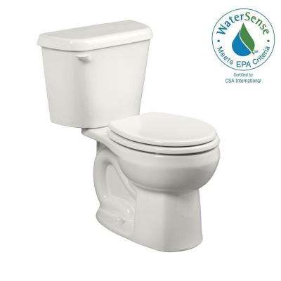 Colony 2-Piece 1.28 GPF Single Flush Round Toilet in White