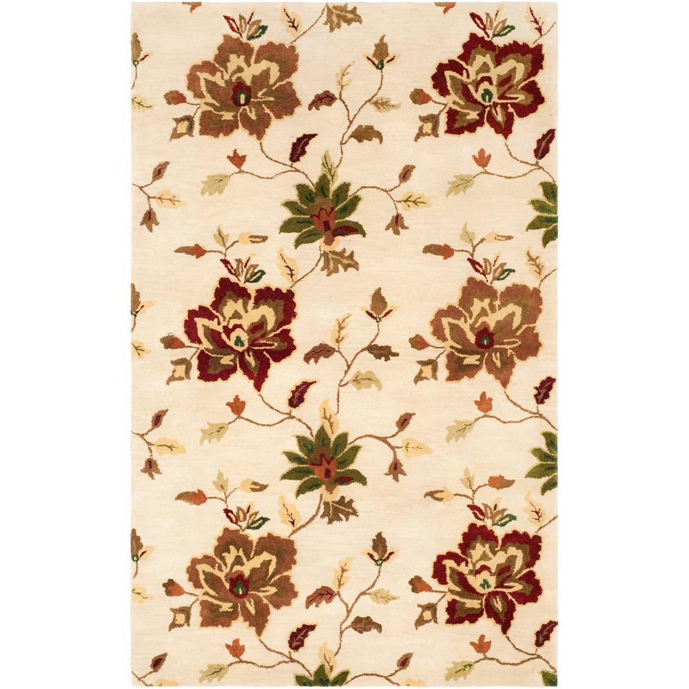 Jardin Ivory/Multi 8 ft. x 10 ft. Area Rug
