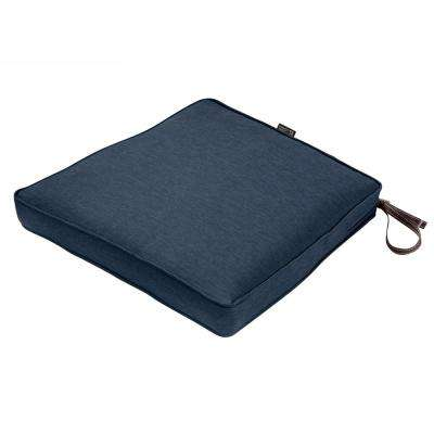 17 in. W x 15 in. D x 2 in. T Montlake Heather Indigo Blue Rectangular Outdoor Seat Cushion