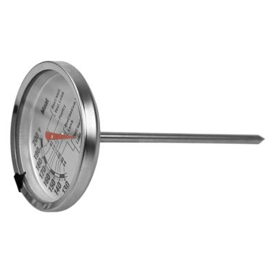Instant Read Large Stainless Steel Mechanical Meat Thermometer in Silver