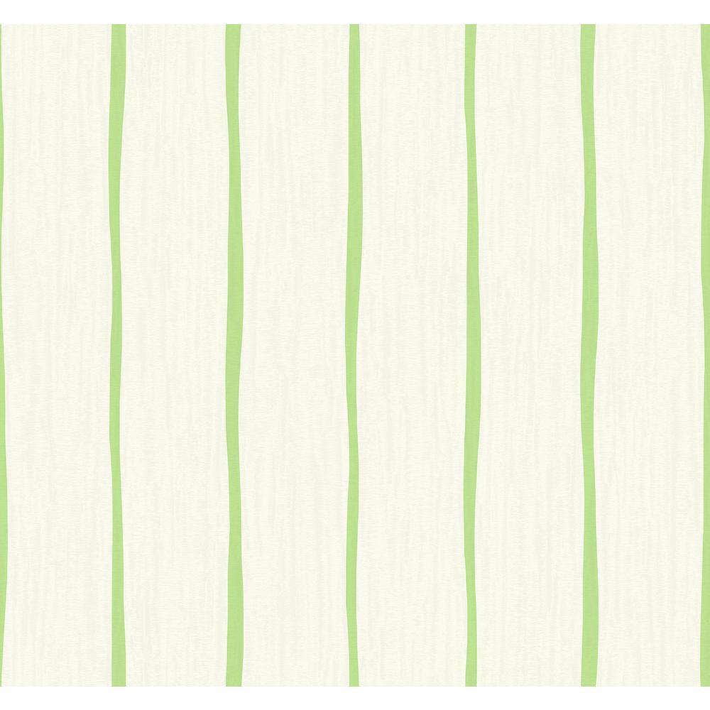 Seabrook Designs Aruba Lime and Off-White Waving Stripe Wallpaper TA21204