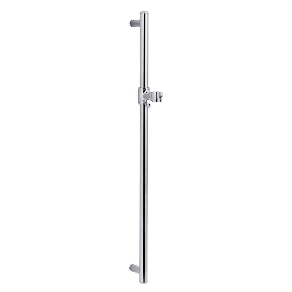 KOHLER Artifacts 30 in  Shower Slide Bar in Polished Chrome