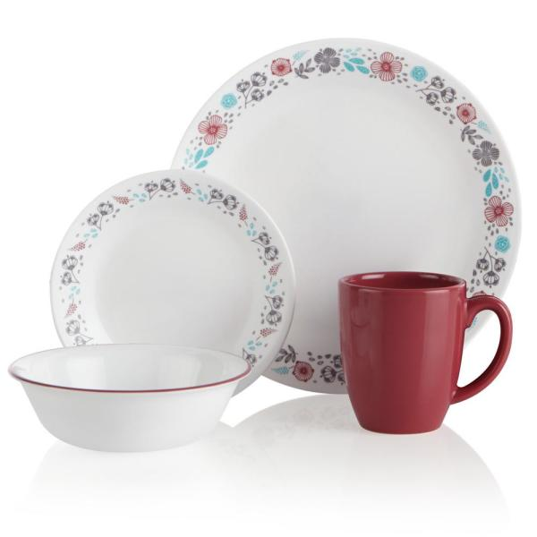 Classic 16-Piece Nordic Blooms Dinnerware Set