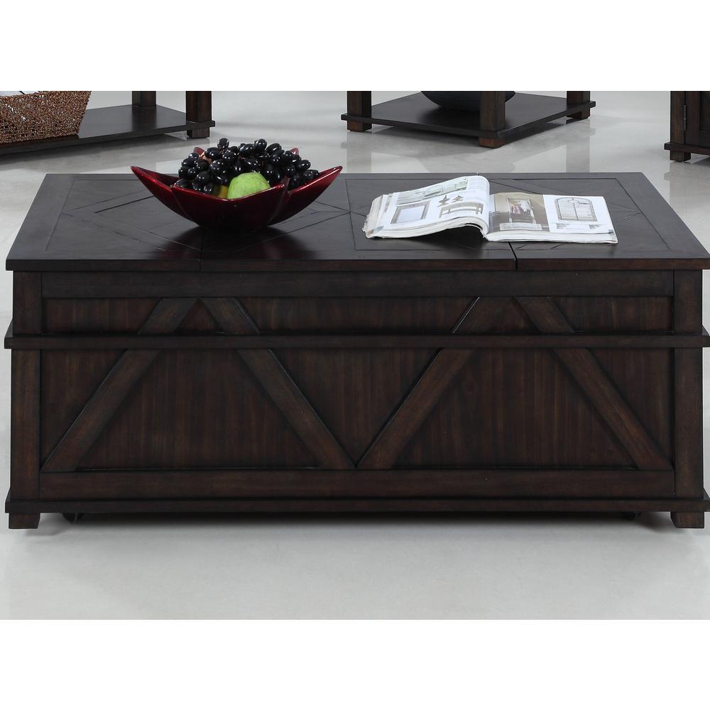 Progressive Furniture Foxcroft Dark Pine Storage Cocktail Trunk T437-17