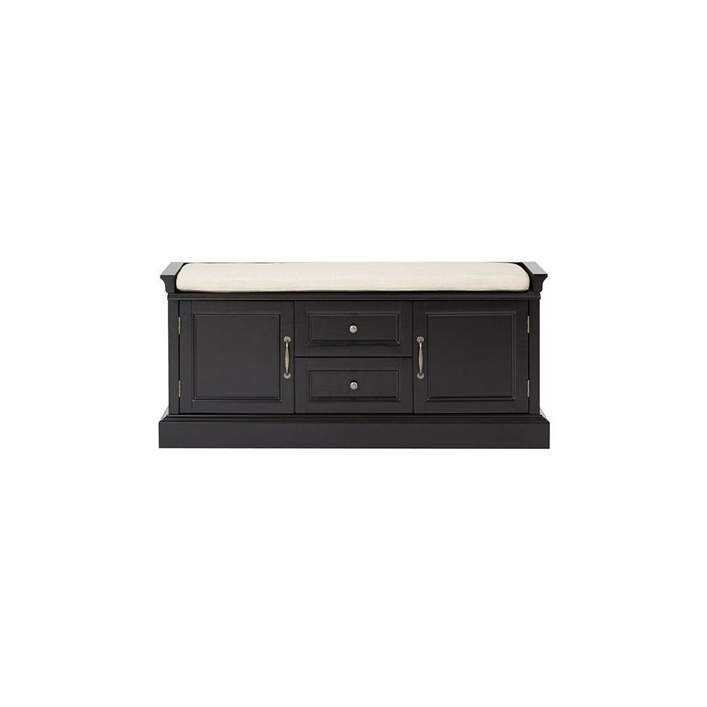 Home Decorators Collection Royce Storage Solid Black Bench 9856600200 The Home Depot