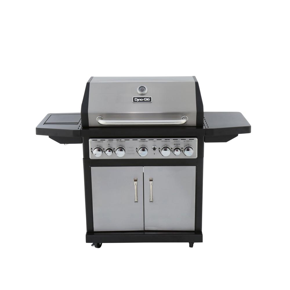 Dyna Glo 5-Burner Natural Gas Grill with Side Burner and ...