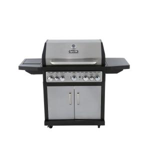 Click here to buy Dyna-Glo 5-Burner Natural Gas Grill with Side Burner and Rotisserie Burner by Dyna-Glo.