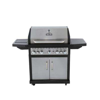 5-Burner Natural Gas Grill with Side Burner and Rotisserie Burner