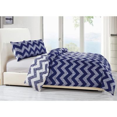Wyatt 3-Piece Navy Full/Queen Comforter Set