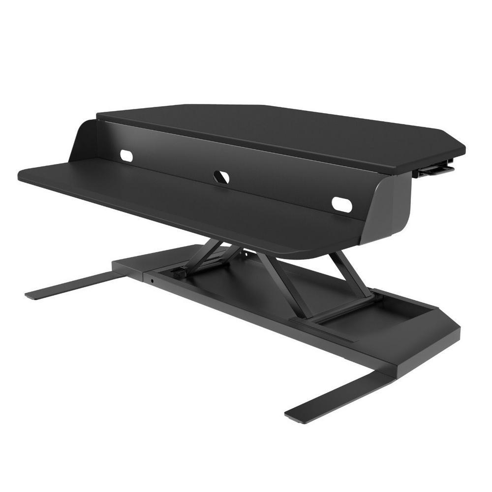 Level Up Corner Pro Black Standing Desk Converter