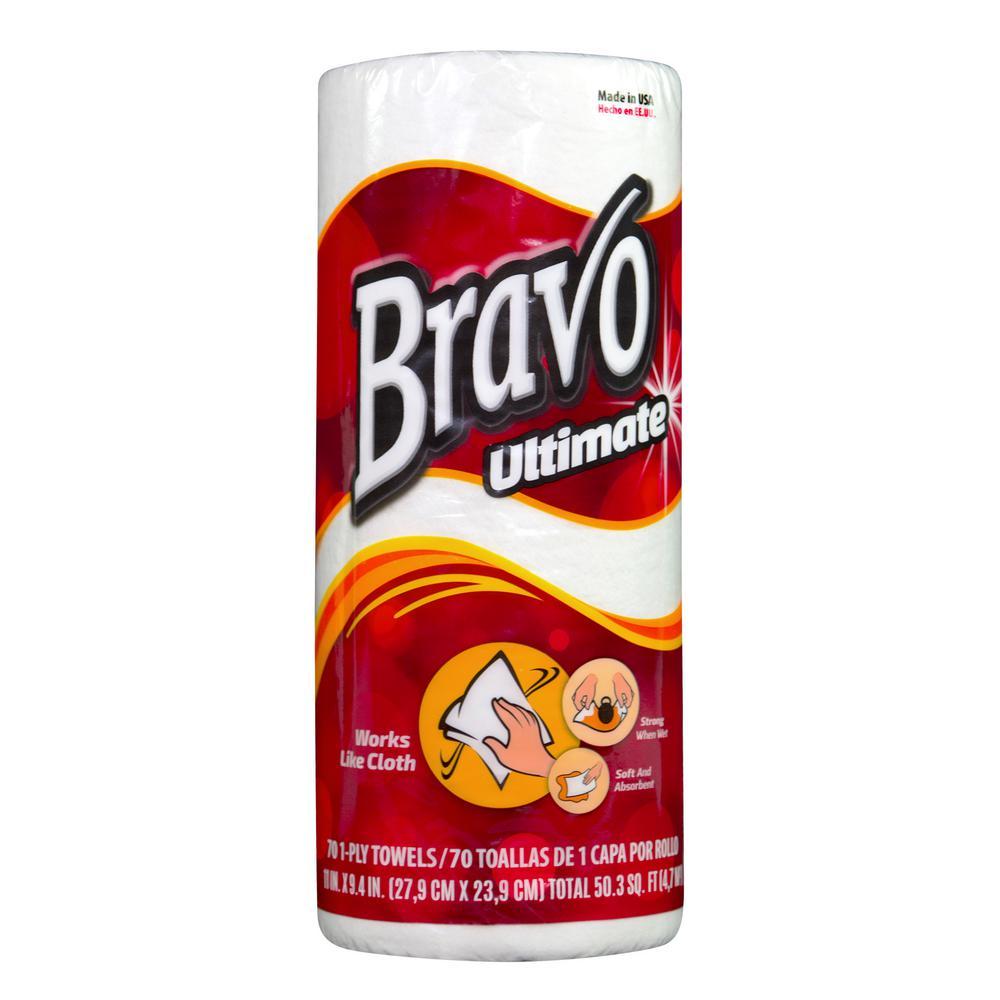 Bravo Premium White Paper Towels (30 Rolls of 70 Sheets)