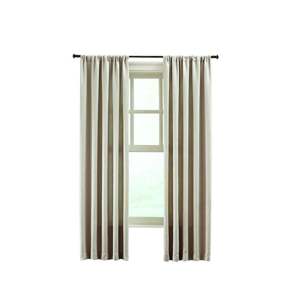 Solid Crushed Room Darkener Curtain