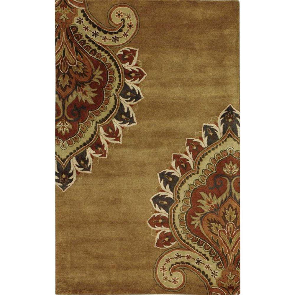 Home Decorators Collection Amour Gold 3 ft. 6 in. x 5 ft. 6 in. Area Rug