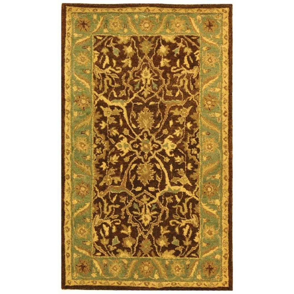 Antiquity Brown/Green 3 ft. x 5 ft. Area Rug