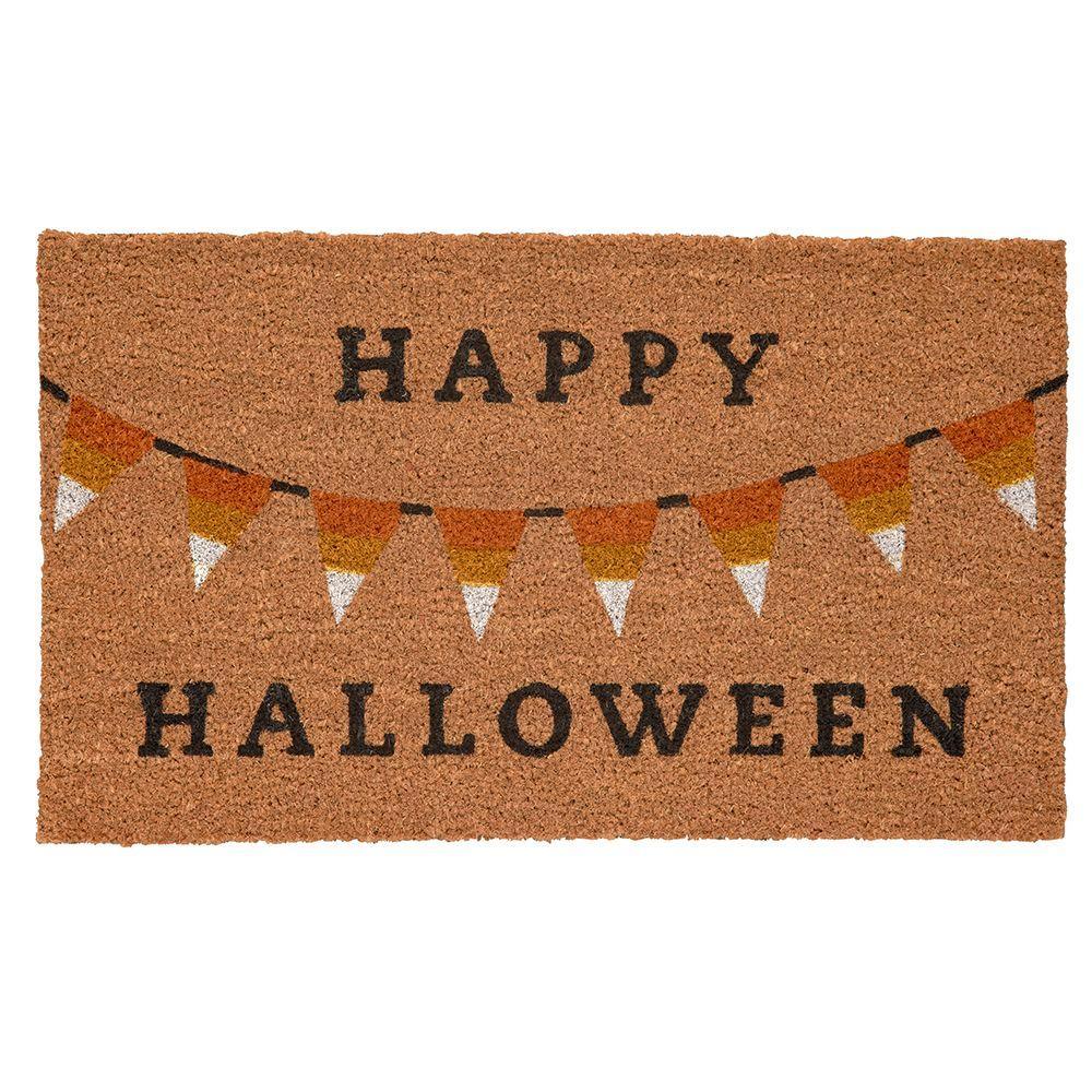 Halloween Bunting 17 in. x 29 in. Coir Door Mat